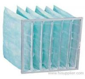 Cheap Synthetic Fiber Medium aluminum alloy Frame HVAC Air Filters pocket air filter for Dust filter for sale