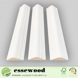 Cheap Primed wood moulding white gesso primer  decoration moulding for sale
