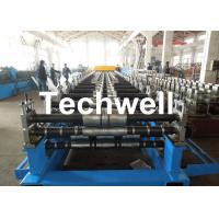 Cheap Metal Roof Panel Roll Forming Machine / Double Layer Forming Machine With Hydraulic Cutting for sale