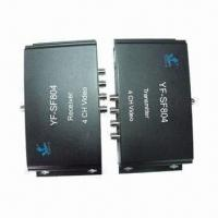 Cheap 4-channel Video Multiplexers with Data , Ideal for Monitoring System Camera for sale