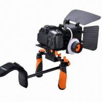 China DSLR Camera Stabilizer with Sunshade, Adjustable Bracket and Follow Focus, Black and Orange Colors  on sale