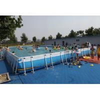 China Summer Metal Frame Swimming Pool Large Set Custom Steel Frame Pool For Holiday on sale
