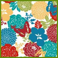 Cheap Flower blooming heat transfer printing tablecloth made of 120gsm polyester fabrics for sale