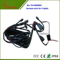 Cheap Fireproof and Waterproof Wiring Harness with DT connectors for 4 LED Lights Simultaneously for sale