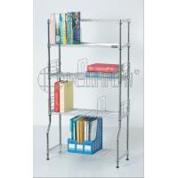 Cheap DIY Metal Chrome Bookcase, Book Rack and Book Shelf , NSF & SGS Approval for sale