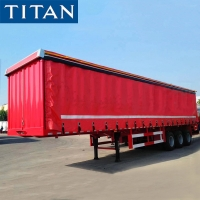 Cheap 3 Axle 40 Ton PVC Tarpaulin Side Curtain Van Trailer for Sale for sale