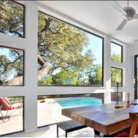 Cheap Large glass luxury fixed glass aluminum window for sale