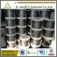 Cheap Good quality 304/316 6*19+fc stainless steel wire rope for tow with cheap price for sale