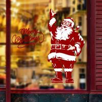 China Multi Size Santa Claus Stat Holiday PVC Wall Sticker Home Decoration Eco - Friendly on sale