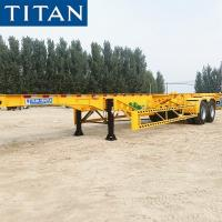 Cheap TITAN 2 axle 20/40ft container skeleton chassis trailer for sale for sale