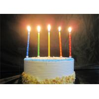 Cheap Star Printed Personalized Birthday Candles Red Blue Yellow Green Orange Pillar Candles for sale