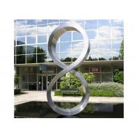 Cheap Number Eight Large Steel Sculptures , Stainless Steel Garden Sculptures for sale