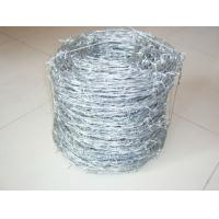 Buy cheap Green Double Twist Galvanized Barbed Wire Against Corrosion With PE from Wholesalers