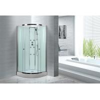 Cheap Spacious Extra White Glass Shower Cabins For Country Clubs / Real Estate Property for sale
