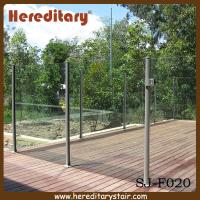 Cheap Semi Frameless Glass Pool Fencing with Round Post Aluminium (SJ-F020) for sale