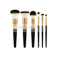 Cheap Classic Goat Hair Makeup Brush Set Three Tone Natural Hair Makeup Brushes With Gold Ferrules for sale