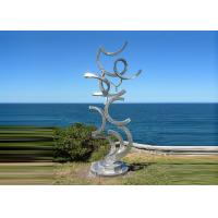 Cheap Contemporary Art Stainless Steel Sculpture For Outdoor Decoration Anti Corrosion  for sale