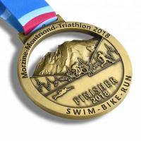 Cheap Gold Finishing Boston 3d Printed Medals / Marathon Sports Award Medals for sale