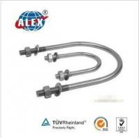 Cheap Stainless Steel AISI304/316 U Bolt with Washer Plate and Nuts for sale
