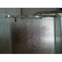 China 12mm Bathroom Partition Figured Glass, Custom Frosted Tempered Glass 1000*2000mm on sale