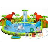 Cheap Colorful Inflatable Floating Water Park / Kids Inflatable Water Games For ​Summer for sale
