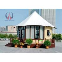 Cheap Fire Retardant Large Permanent Glamping Tents , Eco Material Permanent Tent Homes wholesale