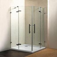 Cheap Shower enclosure, sand silver and aluminum alloy with tempered glass for sale