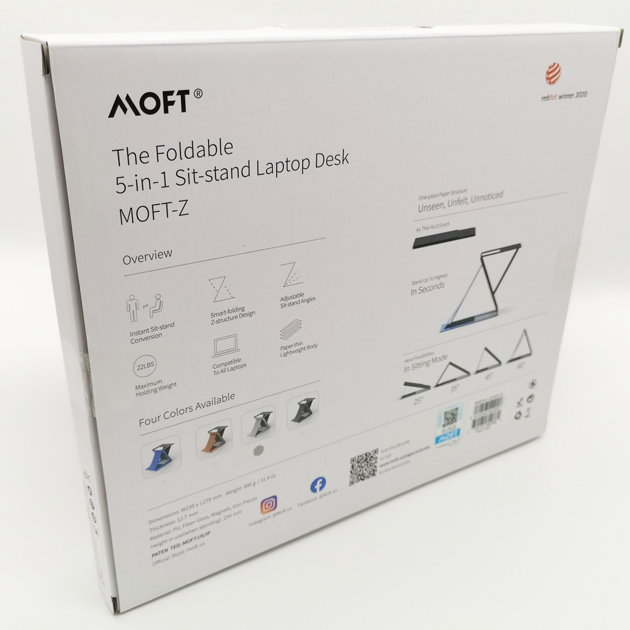 Cheap MOFT Z: The 4-in-1 invisible sit-stand laptop desk | Guaranteed Authentic| for sale
