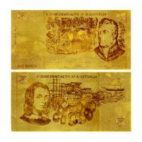 Cheap Old 50$ AUD Bill Pure Gold Banknote for sale