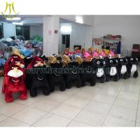 Cheap Hansel plush riding animals on shopping mall with china factory price electric animal ride bike for sale
