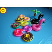 Quality Drink Holders Inflatable Water Floats Animal / Fruit Styles Floating Pool wholesale