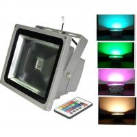 Cheap High CRI rgb outdoor colored led flood lights 30w , 2700 - 3000 lumen , Pure White for sale