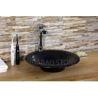 China Decorative Cultured Stone Bathroom Sink Countertop Flush Mount Free Standing on sale
