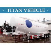 Cheap V / W Type Cement Trailer , Truck Powder Bulk Cement Tank Semi Trailer for sale
