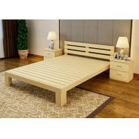 Economic Family Oak Double Bed Frame , Solid Cherry Full Size Wood Bed Frame