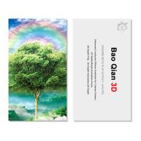 Cheap Customized Logo 3D Lenticular Card / Shaped Stand Holographic Business Cards for sale