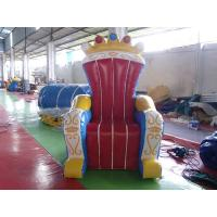 Cheap Wonderful Inflatable Throne Decoration , Air Unsealed PVC Inflatable Throne for King for sale