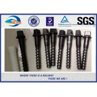 Cheap Black Oxide Railway Sleeper Screws Zinc Dacromet Screw On Spikes for sale
