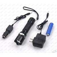 Cheap Rechargeable 180Lm CREE Q5 LED Flashlight Torch with Li-ion Battery for sale