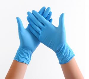 Cheap Custom Made Length : 240mm Compound Nitrile Gloves  / Thickness : Thin for sale