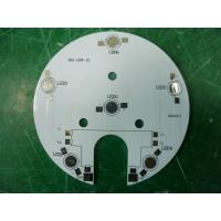 Cheap Rigid Single Side / Double Side Round LED PCB Circuit Board 4x4 mm - 1500x600 mm for sale