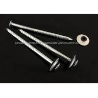 Cheap Electro Galvanized Roofing Nails Combined Washer Corrosion Resistant Needle Point for sale