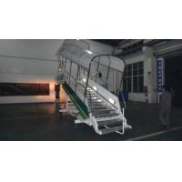 Cheap Anti Steep Aircraft Passenger Stairs 15000 Millimeter Turning Radius Easy Moving for sale