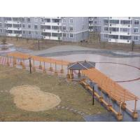 China WPC Outdoor Furniture , Waterproof Pavilion Bridge and Green Corridor for Landscape on sale