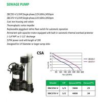 Cheap SEWAGE PUMP SBC250-V SBC370-V for sale