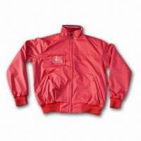 Cheap Men's Jacket with YKK Zipper and Safety Stitch for sale