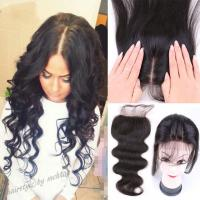 Buy cheap 4x4 Swiss Lace Top Closure , Medium Brown Weave Closure With Natural Part from wholesalers