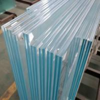 Cheap Durable 13.52mm low iron ultra clear tempered laminated safety glass infill panels for interior commercial railing for sale