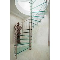 Cheap Inside spiral staircase with stainless steel railing design for sale