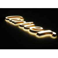 China Poly 3d Sign Letters / LED Indoor Sign Letters With Frontlit & Backlit For Cartier Jewelry Brand on sale